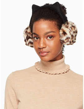 Faux Leopard Earmuff With Ears by Kate Spade