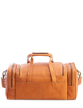 Royce Colombian Leather Overnight Duffel Bag by Royce