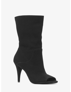Elaine Suede Open Toe Boot by Michael Michael Kors