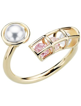 Nostalgia Spiral Ring, Pink, Gold Plating by Swarovski Crystal