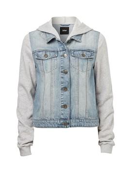 Jersey Hood Denim Jacket by Sportsgirl