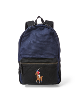 Canvas Big Pony Backpack by Ralph Lauren
