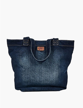 Denim Embroidered Tote by Lucky Brand