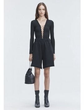 Lace Up Long Sleeve Bodysuit by Alexander Wang