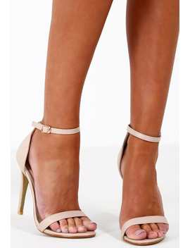 Anonymous Nude Barely There Heels by Pink Boutique