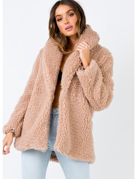Somedays Lovin Waking Hour Teddy Coat by Somedays Lovin