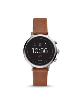 Gen 4 Smartwatch   Q Venture Hr Brown Leather by Fossil