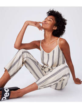 Lou & Grey Striped Cami Jumpsuit by Lou & Grey