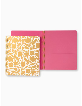 Golden Floral Large Spical Notebook by Kate Spade