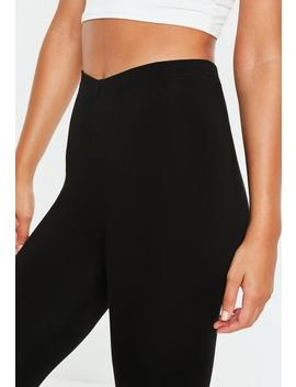 Black Jersey Leggings by Missguided
