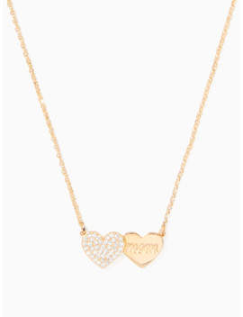 Mom Knows Best Pave Heart Mom Pendant by Kate Spade