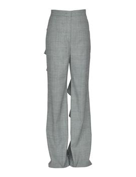 Sara Battaglia Women's Mcglpnp000004044i Grey Wool Pants by Sara Battaglia