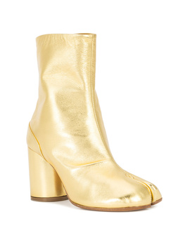 Maison Margiela Women's S39wu0107sy1206906 Gold Leather Ankle Boots by Maison Margiela