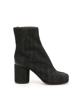 Maison Margiela Women's  Grey/Black Cotton Ankle Boots by Maison Margiela