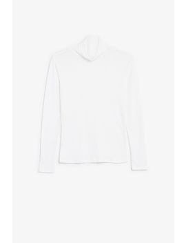 Ribbed Turtleneck Top by Monki