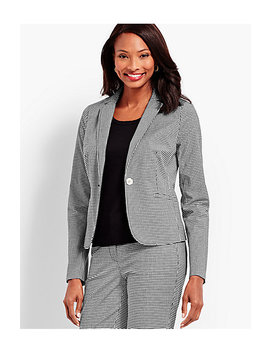 One Button Jacket   Gingham by Talbots