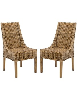 Suncoast 18''h Rattan Arm Chair (Set Of 2) by Safavieh
