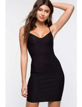 Worth It Bustier Bodycon Dress by A'gaci