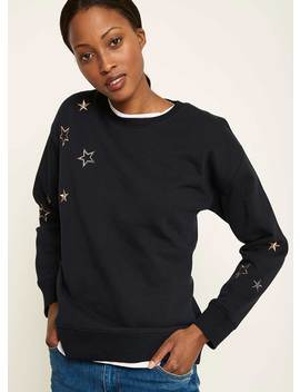 Ink Embroidered Star Sweat by Mint Velvet