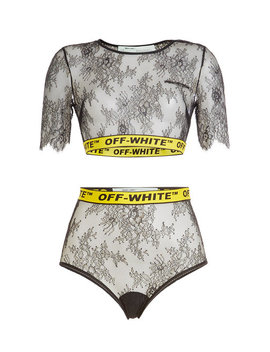 Lace Cropped Top by Off White