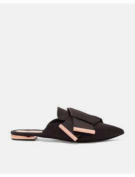 Knotted Bow Backless Satin Loafers by Ted Baker