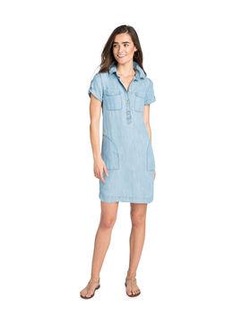 Chambray Utility Shirt Dress by Vineyard Vines