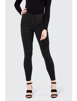 Double Pinstripe Hight Waist Skinny Pant by Select