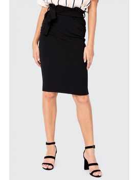 Tie Waist Midi Skirt by Select