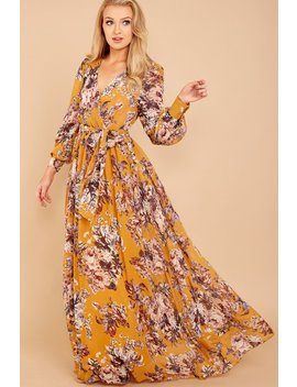 Isn't It Iconic Yellow Floral Print Maxi Dress by Xtaren