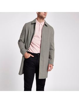 Brown Check Smart Zip Up Jacket by River Island