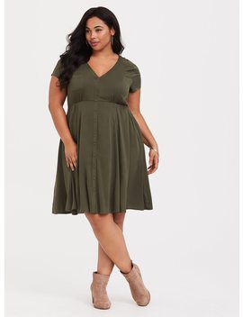 Lace Inset Challis Shirtdress by Torrid