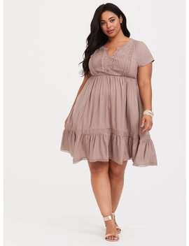 Pintuck Challis Skater Dress by Torrid