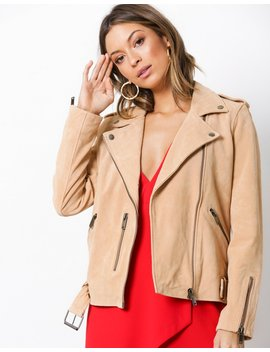 Sfsanella Leather Jacket Apricot Ca by Selected Femme