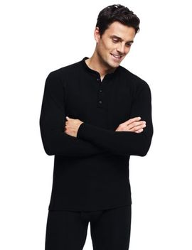 Men's Thermaskin Natural Merino Henley by Lands' End