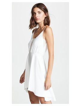 Women's White Misha Lace Trim Dress by Rime Arodaky
