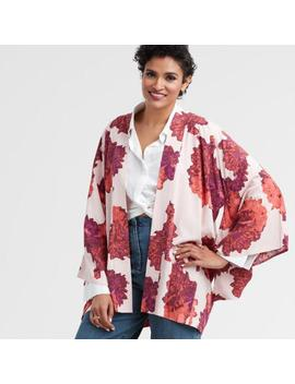 Fuchsia And Blush Floral Yohji Open Front Kimono by World Market