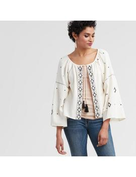 Black And White Embroidered Jacket by World Market