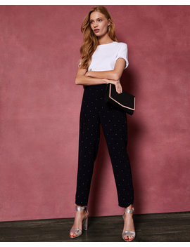 Embellished Tapered Joggers by Ted Baker