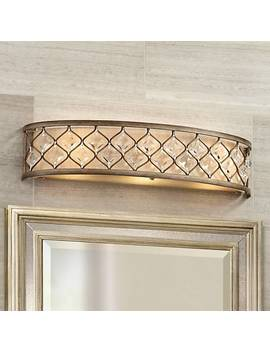 "Jeweled Golden Bronze 25"" Wide Bathroom Wall Light by Lamps Plus"
