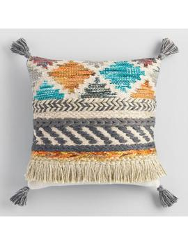 Multicolor Desert Fringe Throw Pillow by World Market