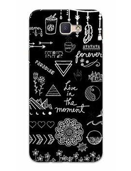 Tecozo Designer Printed Back Cover/Hard Case For Samsung Galaxy J5 Prime (Live In The Moment Design/Quotes)   Black by Tecozo