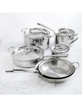 Williams Sonoma Signature Thermo Clad™ Stainless Steel 10 Piece Cookware Set by Williams   Sonoma