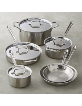 All Clad D5 Brushed Stainless Steel 10 Piece Set by Williams   Sonoma