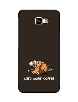 For Samsung Galaxy J5 Prime Need More Coffee ( Need More Coffee, Good Quotes, Cartoon, Black Background ) Printed Designer Back Case Cover By Fashion Cops by Chaploos