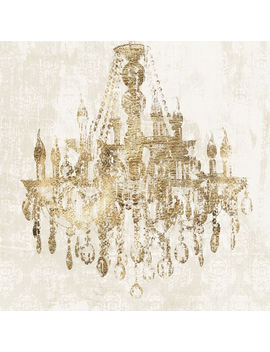 Glam Chandelier Contemporary Art  35x35 In. by At Home