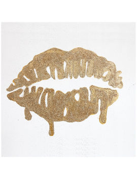 Aa Tex 16 X16 Glitter Lips Gold by At Home