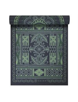 Gaiam 6mm Premium Reversible Print Yoga Mat   Boho Folk by Gaiam