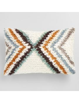 Oversized Geometric Shag Lumbar Pillow by World Market