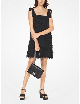 Dot Jacquard Fringed Dress by Michael Michael Kors