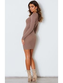 Lift Yourself Knit Dress Mocha by White Fox